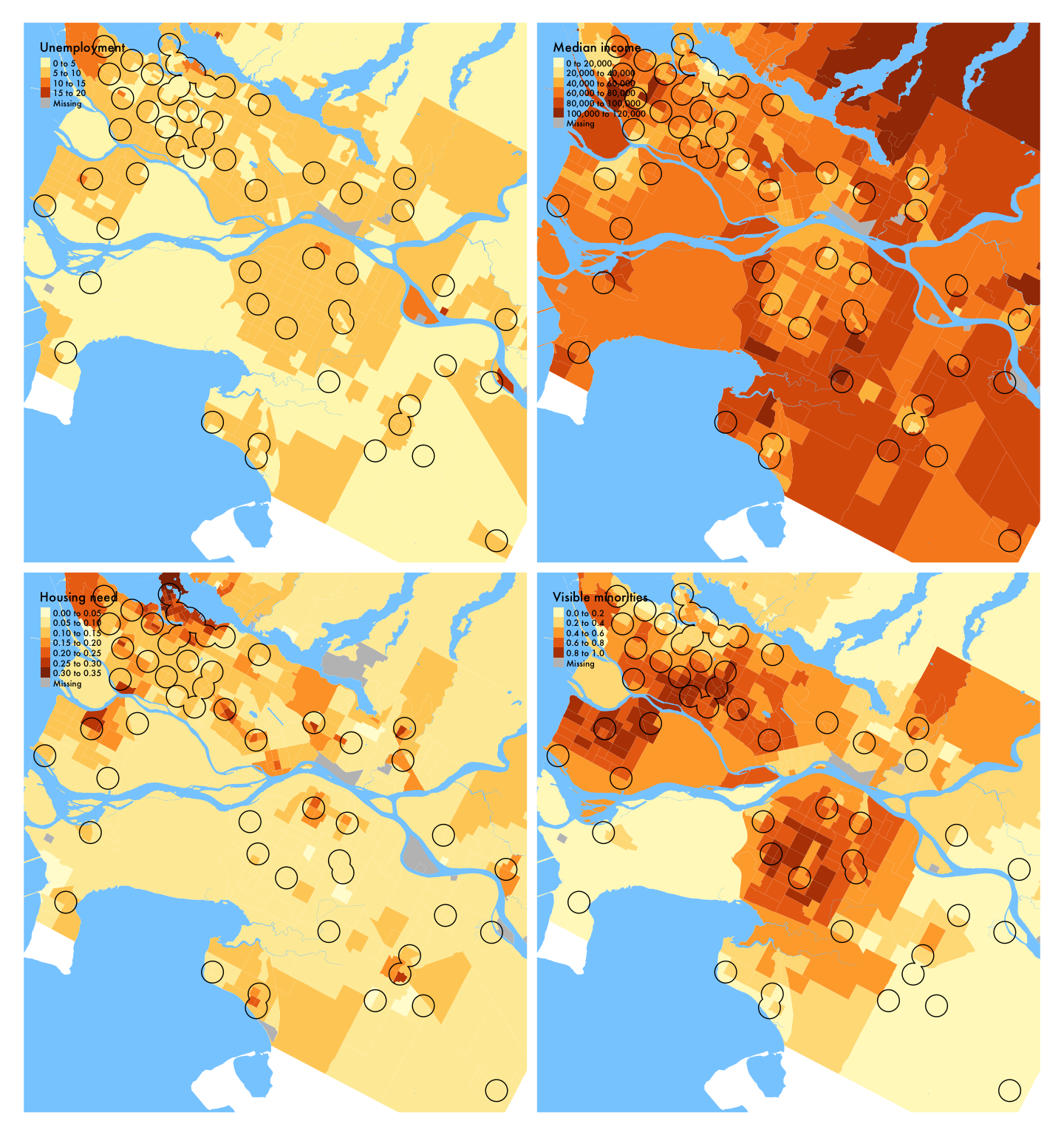 Demographic variables in Vancouver (library service area), 2016
